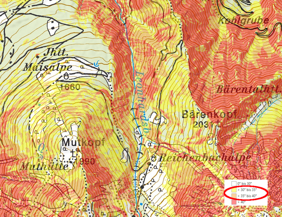 Glossary Steep Terrain © LWD Tirol | EAWS European Avalanche Warning Services