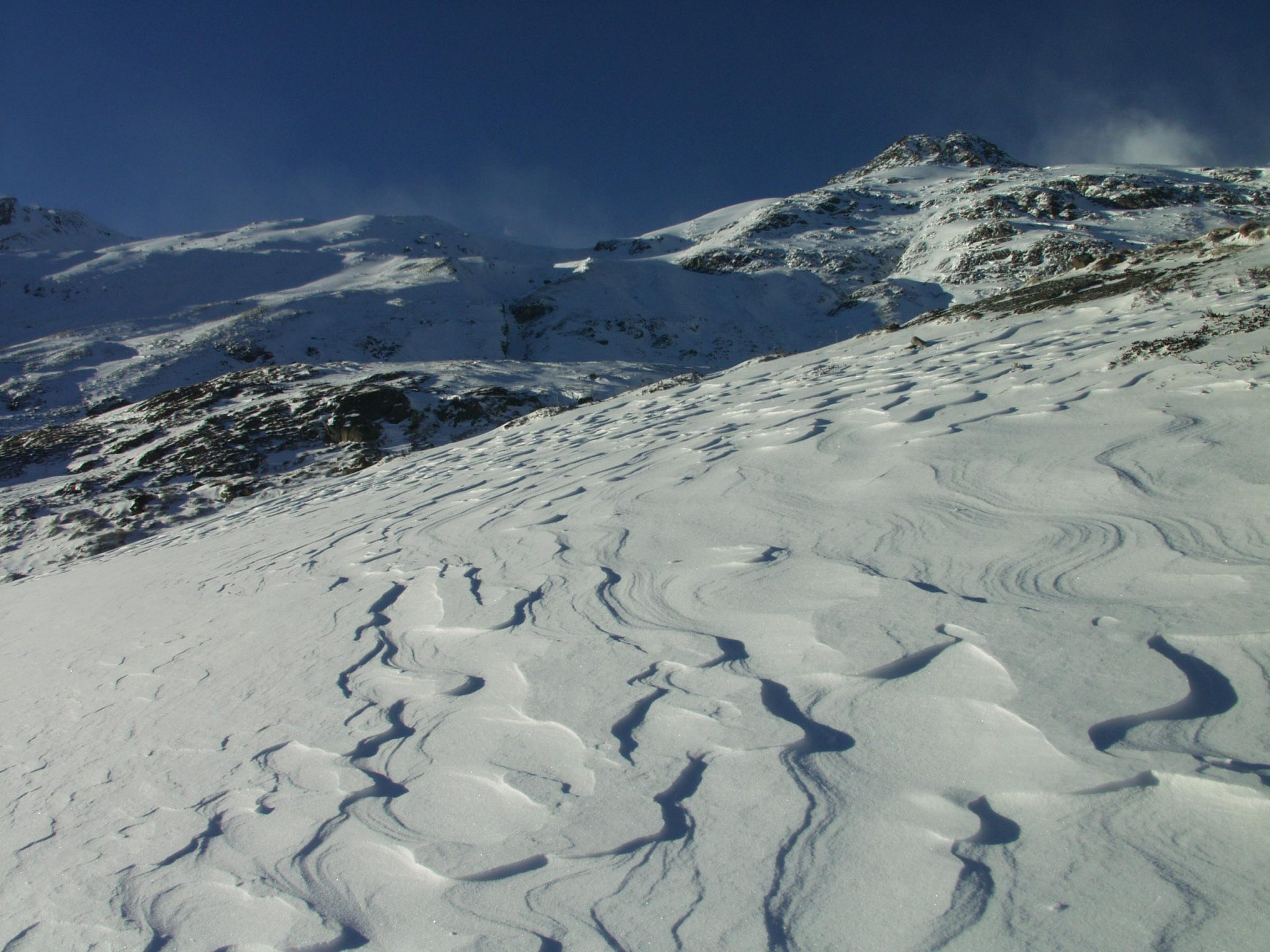 Glossary Wind Crust, sastrugi, increased firmness of the surface © LWD Tirol | EAWS European Avalanche Warning Services