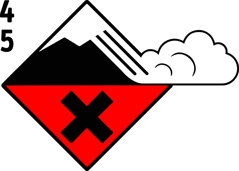 Icon Avalanche Danger Level Dry Snow 4 5, high and very high | EAWS European Avalanche Warning Services