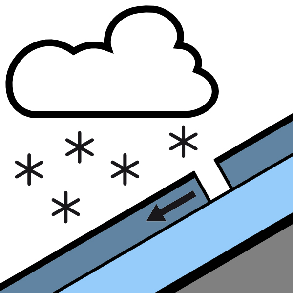 Icon Avalanche Problems New Snow © EAWS | EAWS European Avalanche Warning Services