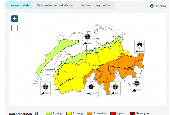 Glossary avalanche bulletin ch © LWD Tirol EAWS European Avalanche Warning Services